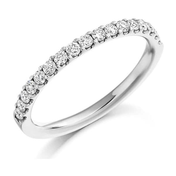 0.50cts Round Brilliant Cut Diamond  Micro Claw Setting Eternity Ring
