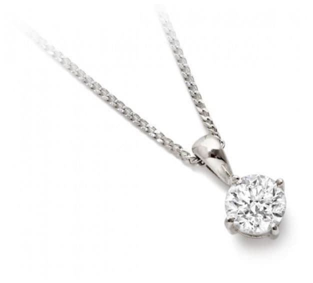 18ct White Gold and Diamond Solitaire Pendant 0.50ct.