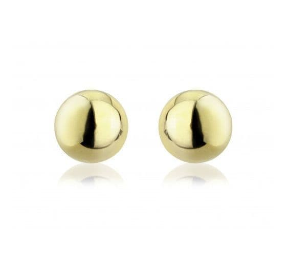 9ct Gold Large Ball Stud Earrings