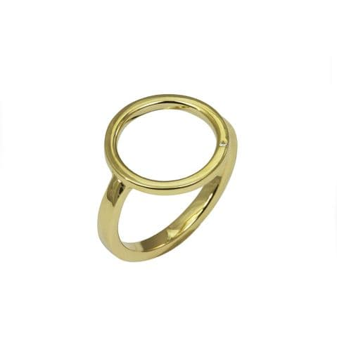 9ct Yellow Gold and Diamond Circle Ring