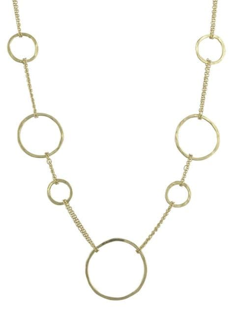 Hammered Texture Multi Circle Necklace