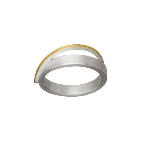 Manu Sterling Silver and 22ct Yellow Gold Dress Ring