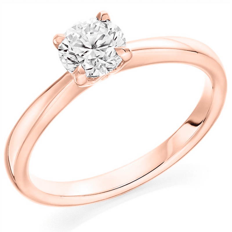 Rose gold 0.70cts diamond solitaire engagement ring