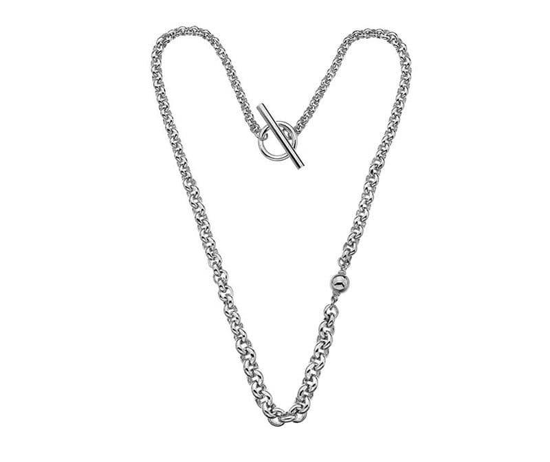 Silver feature ball  chain Necklace