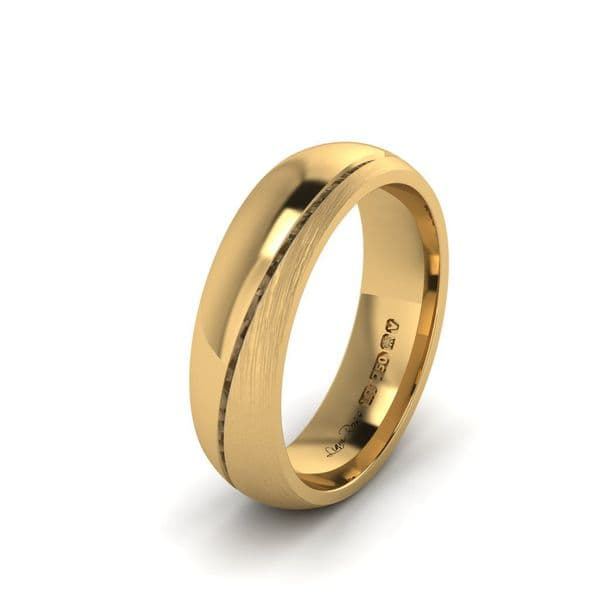 Two wedges yellow gold Wedding Ring