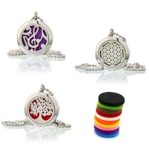 Aromatherapy Necklaces 25mm Selection