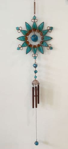Blue Sunflower Chime / Windchime / Wind Chime