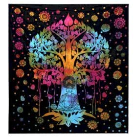 Bodhi Tree Single/Double Cotton Bedspread / Wall Hanging