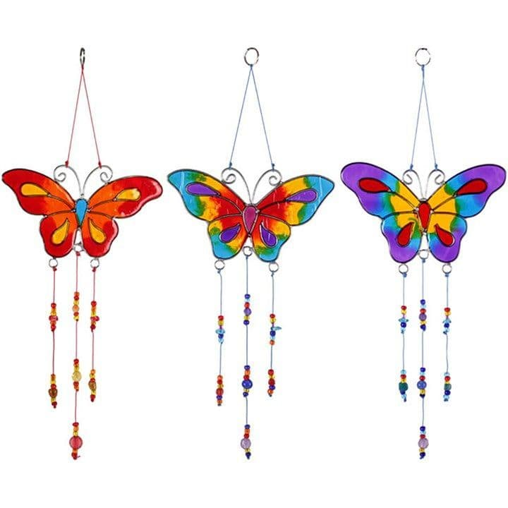 Butterfly with Beads Suncatcher