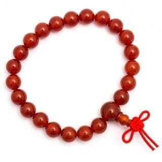 Carnelian Power Bracelet With Infinity Knot