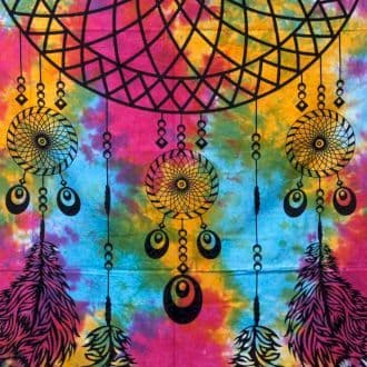 Dreamcatcher Single/Double Cotton Bedspread / Wall Hanging