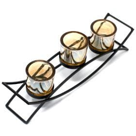 Iron Votive Candle Holder - 3 Cup Silhouette