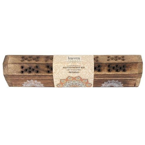 Patchouli Incense Sticks Wooden Box Set