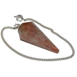 Sunstone Faceted Pendulum