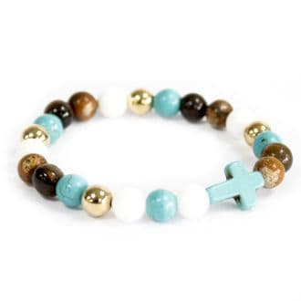Turquoise Cross Royal Beads bracelet