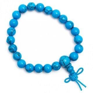 Turquoise power bracelet With Infinity Knot