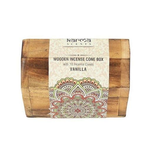 Vanilla Incense Cones Wooden Box