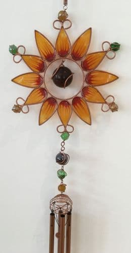 Yellow Sunflower Chime / Windchime / Wind Chime
