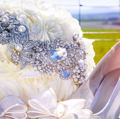April brooch bouquet