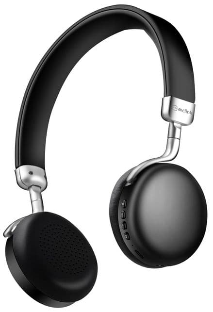 AV:Link NEO: Metallic Bluetooth Headphones Black