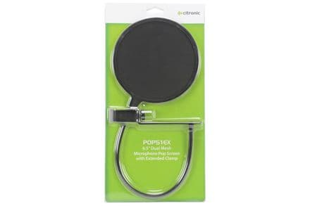 """Citronic Extended Clamp 6.5"""" Microphone Pop Screen"""