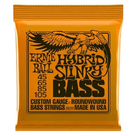 Ernie Ball Hybrid Slinky 45-105 Nickel Wound Electric Bass Strings