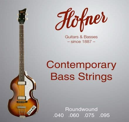 Hofner Contemporary Roundwound 40-95 Short Scale Bass Strings for Violin Bass