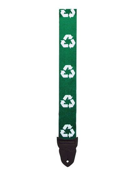 LM Recycle Green Guitar Strap