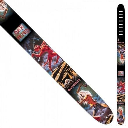 Perri's P25INM-1340 2.5 Inch Iron Maiden Leather Guitar Strap
