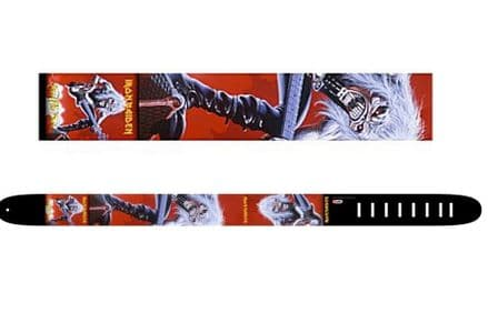 Perri's P25INM-1342 2.5 Inch Iron Maiden Leather Guitar Strap