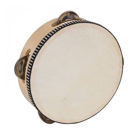 PP World Wooden Tambourine - 15cm Natural