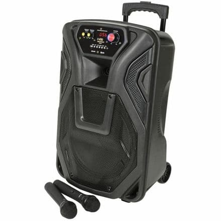 """QTX Busker 12"""" Portable PA System with Wireless Microphones and Bluetooth"""