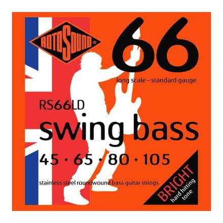 Rotosound RS66LD Swing Stainless Steel 45-105 Bass Guitar Strings