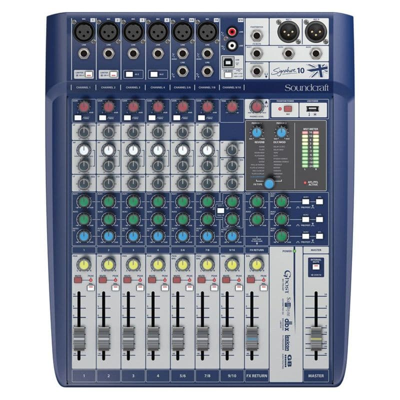 Soundcraft Signature 10 Analog Mixer with USB and FX