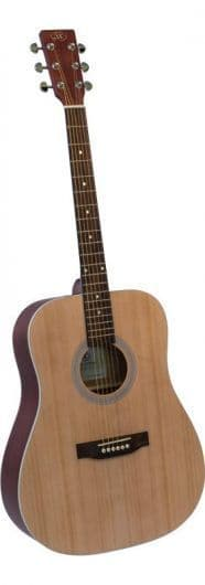 SX SD204 Acoustic Guitar Red Matte