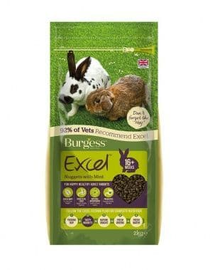 Burgess Excel Rabbit Adult - Nuggets with Mint