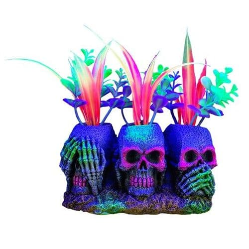 "Marina iGlo 3 Skulls with Plants Ornament (14cm / 5.5"")"
