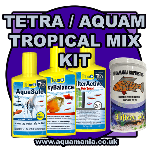 Tetra / Aquamania Tropical Combo Mix Deal + Food (Aquasafe, Easy Balance, Filter Active, 4 Menu Mix)