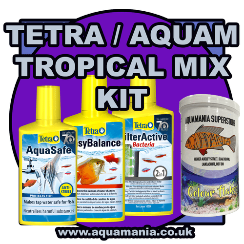 Tetra / Aquamania Tropical Combo Mix Deal + Food (Aquasafe, Easy Balance, Filter Active, Col. Flake)