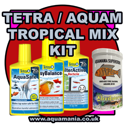 Tetra Tropical Combo Mix Deal + Food (Aquasafe, Easy Balance, Filter Active, Bloodworm) Dry Food