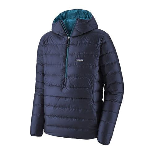 Patagonia Men's Down Sweater Hoody Pull over Classic Navy