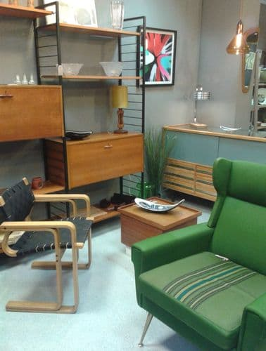 1950'S WING BACK ARM CHAIR