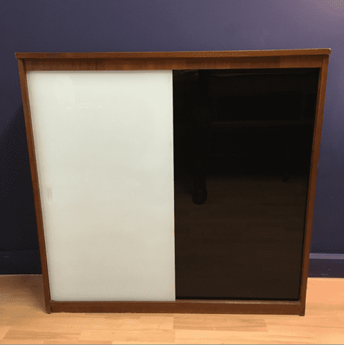 BLACK AND WHITE CABINET