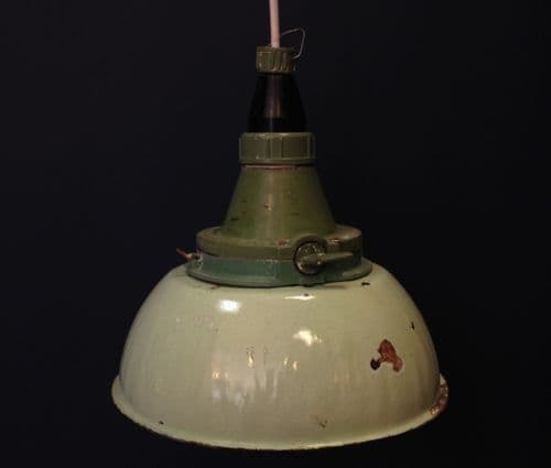 Industrial Green Enamel Light