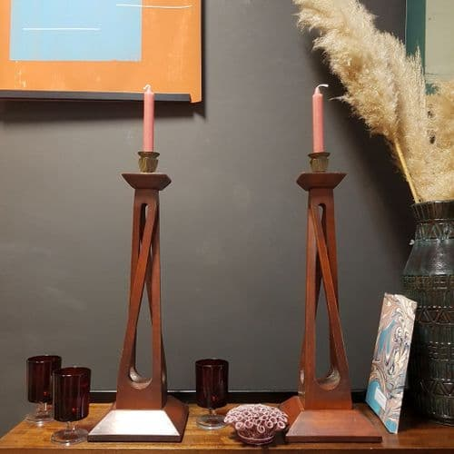 Mid-Century Hand Crafted Candle Holder