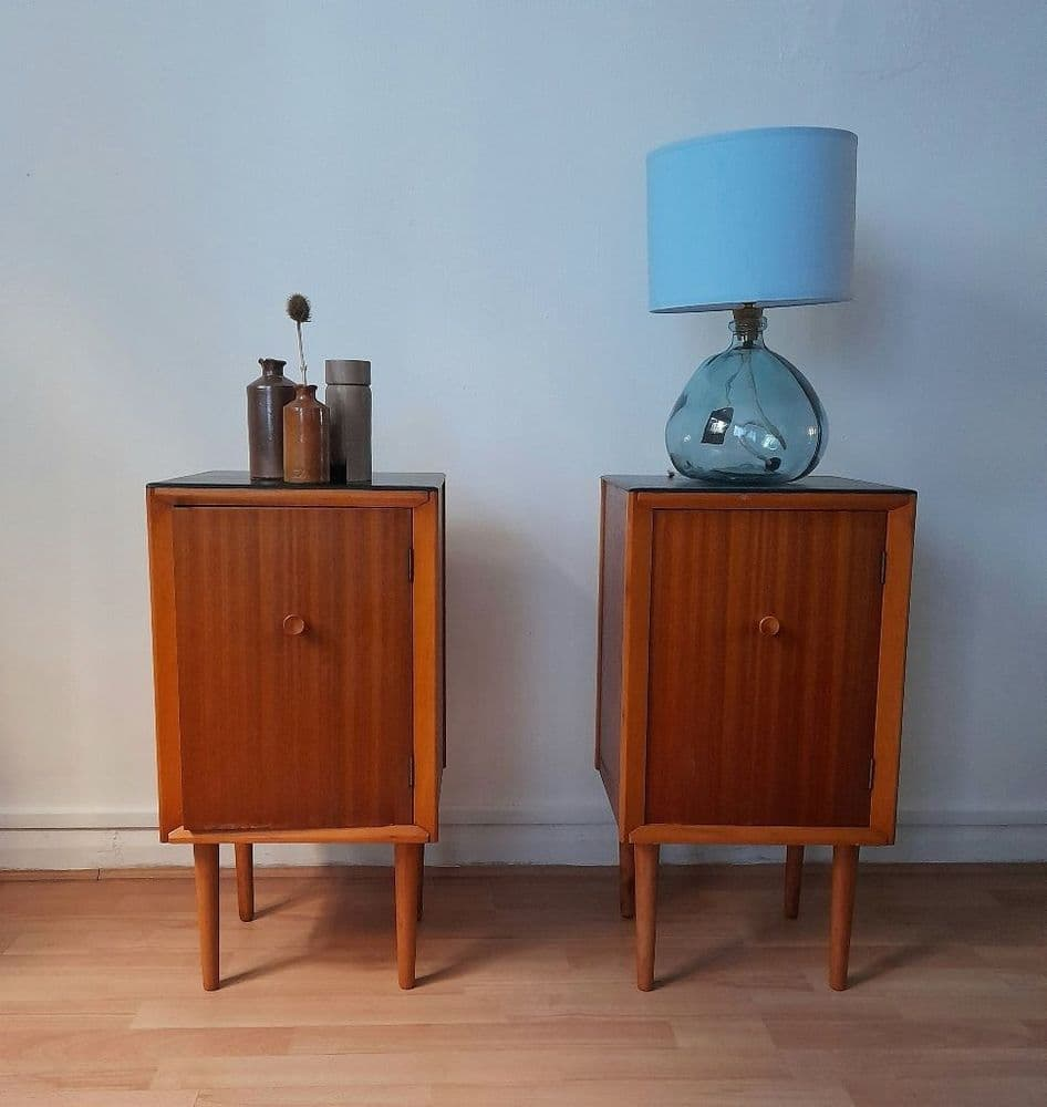 Pair of Mid-Century Bedside Cabinets