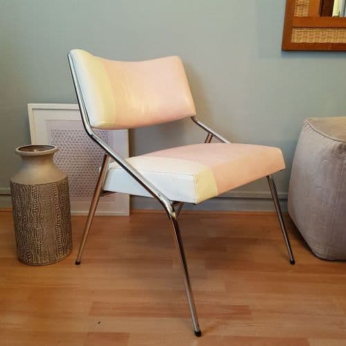 Pink, Cream and Chrome Chair