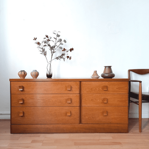 Stag Double Chest of Drawers, 1980s