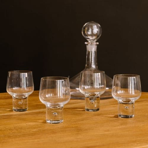 Wine Glasses with Air Bubble Large