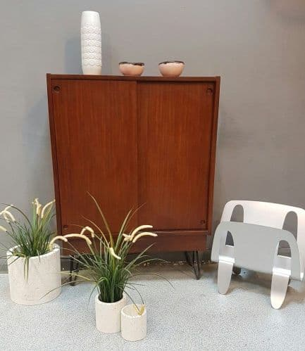 Wooden Cabinet on Hairpin Legs